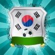 thumbnail of Shield with flag of South Korea