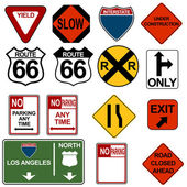 An image of a traffic signage set