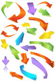 Colorful mix of 3D arrows going in many directions