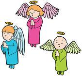 Set of 3 angels praying