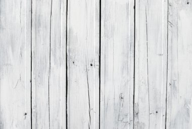 Weathered white wooden plank
