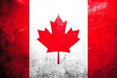 Grunge flag Canada
