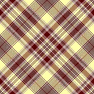 Seamless brown and yellow checkered diagonal pattern (vector, EPS 10) clip art vector