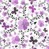 Photo Seamless floral white pattern