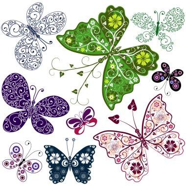 Abstract Butterflies (Set)