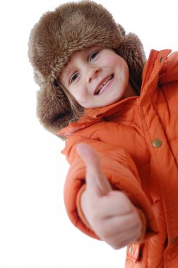 Child wearing winter clothing