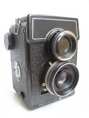 Isolated vintage camera