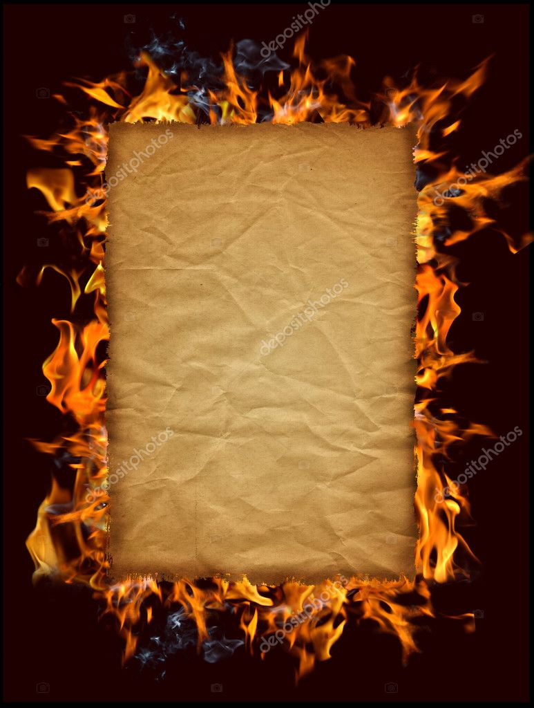 how to draw burning paper