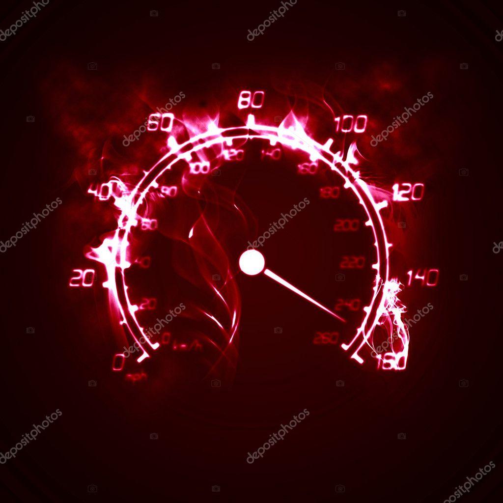 Burning Speedometer Stock Photo C Velliton 3139656