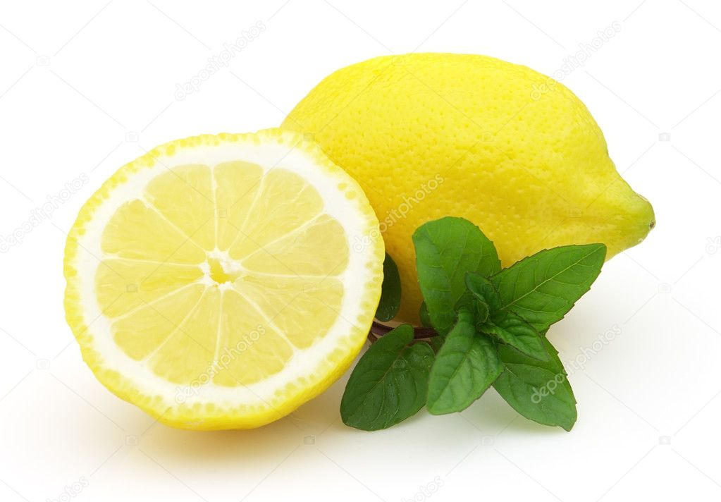 Lemon with mint