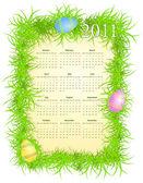 vektorové ilustrace velikonoční kalendáře 2011