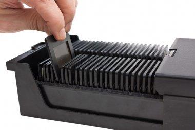 Archive slide film in box
