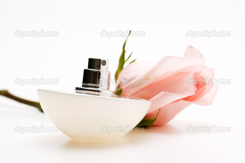 Perfumes with flower roses