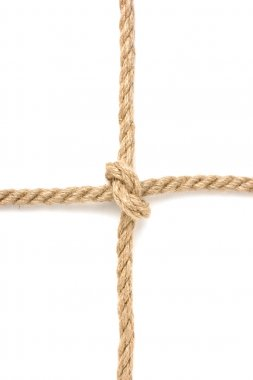 Strong knot tied by a rope