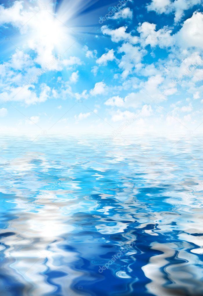 Beautyful sky and ocean