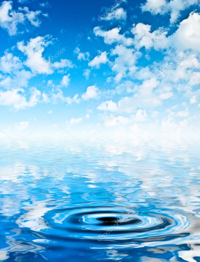 Sky and water with ripple