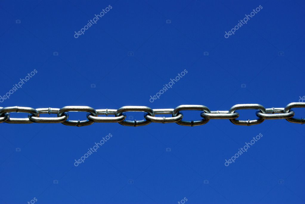 Chain isolated on a sky