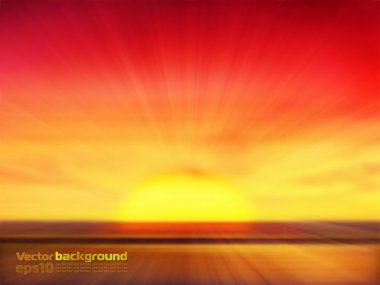 Sunset background stock vector