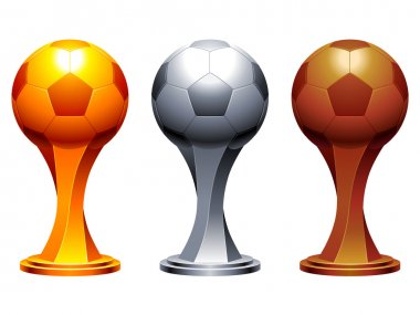 Soccer trophy cups.