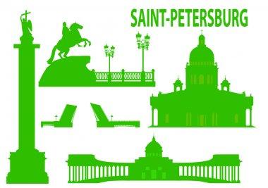 Saint petersburg skyline and symbols. Vector illustration clip art vector