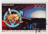 Comores - razítka v comores ukazuje viking 3 v kosmu