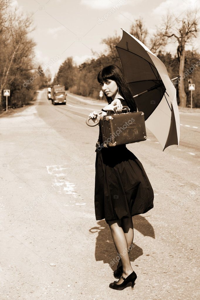 Картинки чемоданов и зонтиков