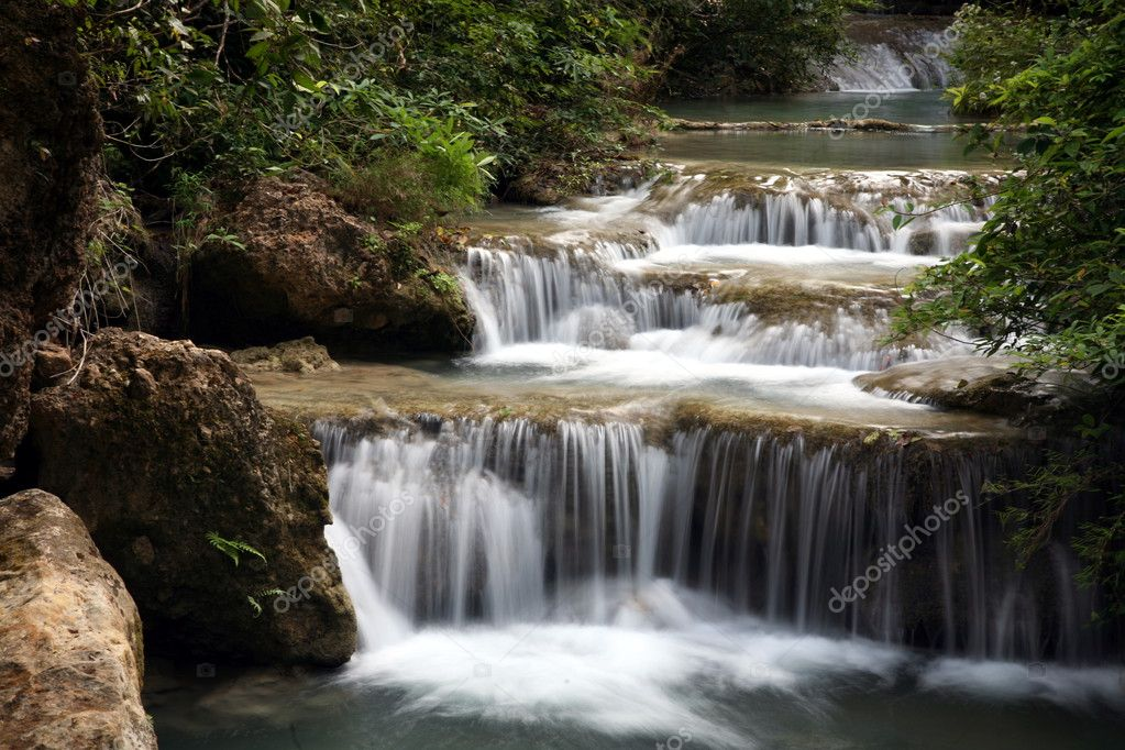 Waterfall in Thailand, Kanchanaburi NP