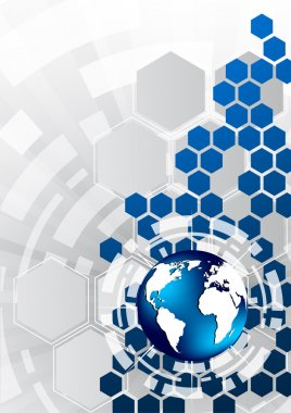 Vector background with hexagon