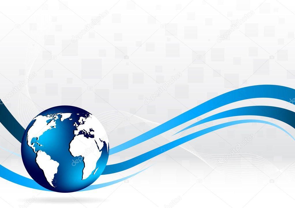 Vektor Hintergrund mit Globus — Stockvektor © Denchik #3700542