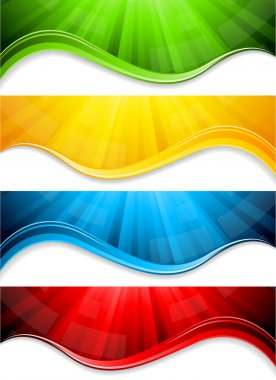 Vector collection abstract banners
