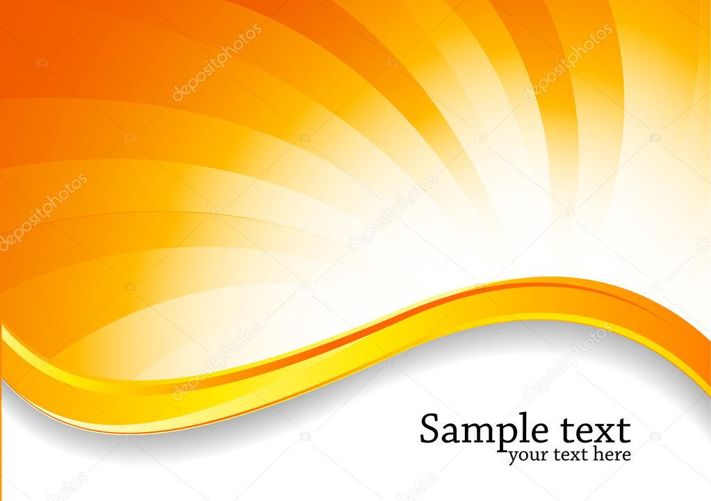 Abstract Swirl Bright Background In Orange Color Stock