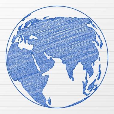 Drawing world globe