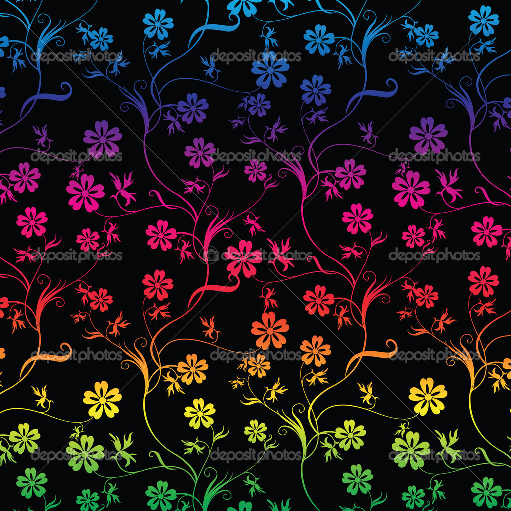 Seamless colorful floral
