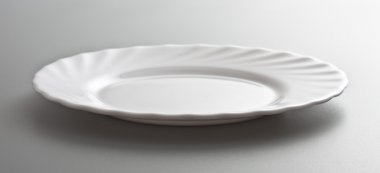 Empty white dish