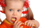 Fotografie Child clean brush ones teeth.