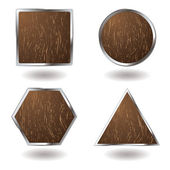 Photo Wood button variation