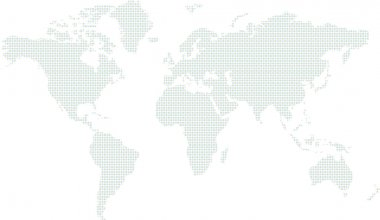 World map circle