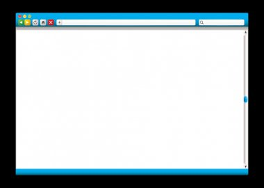 Internet web browser blue slider