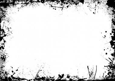 Ink splat border mono