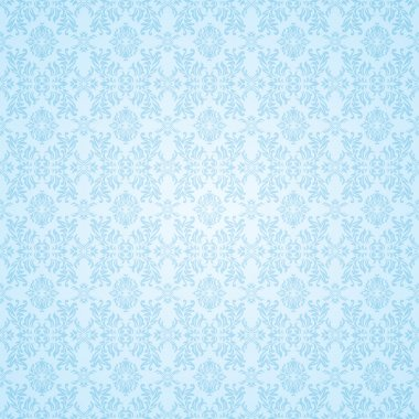 Gothic blue seamless wallpaper
