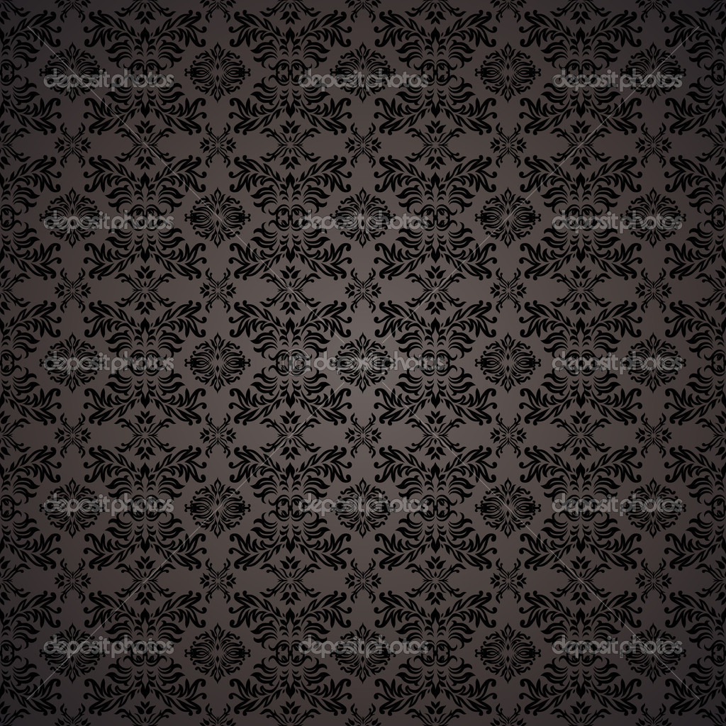 Black Gothic Repeating Seamless Wallpaper Background Design Concept Vector By Nicemonkey