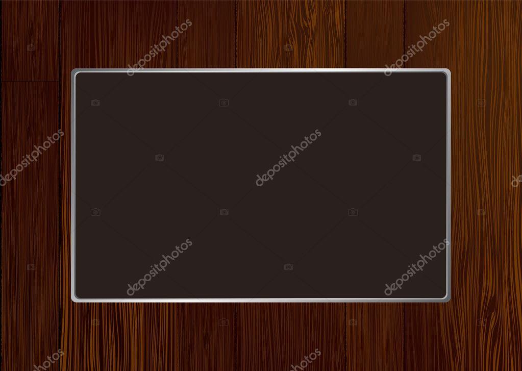 marco de madera oscura — Vector de stock © Nicemonkey #3428179