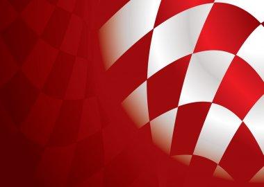 Checkered corner red