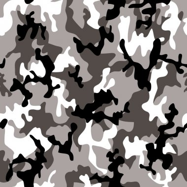 Illustrated grey and black camouflage background with a seamless design stock vector