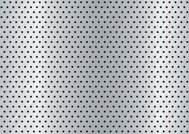 Brushed metal hole background