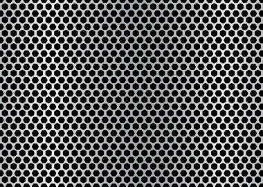 Brushed hexagon background