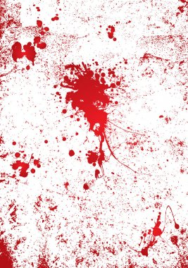 Blood splatter wall