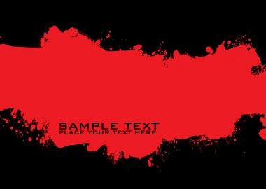 Blood grunge ink