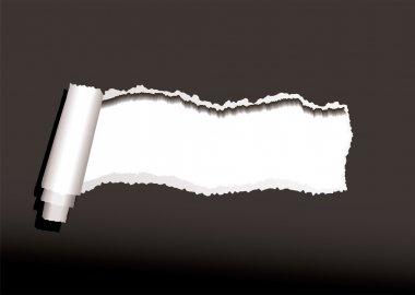 Black paper curl