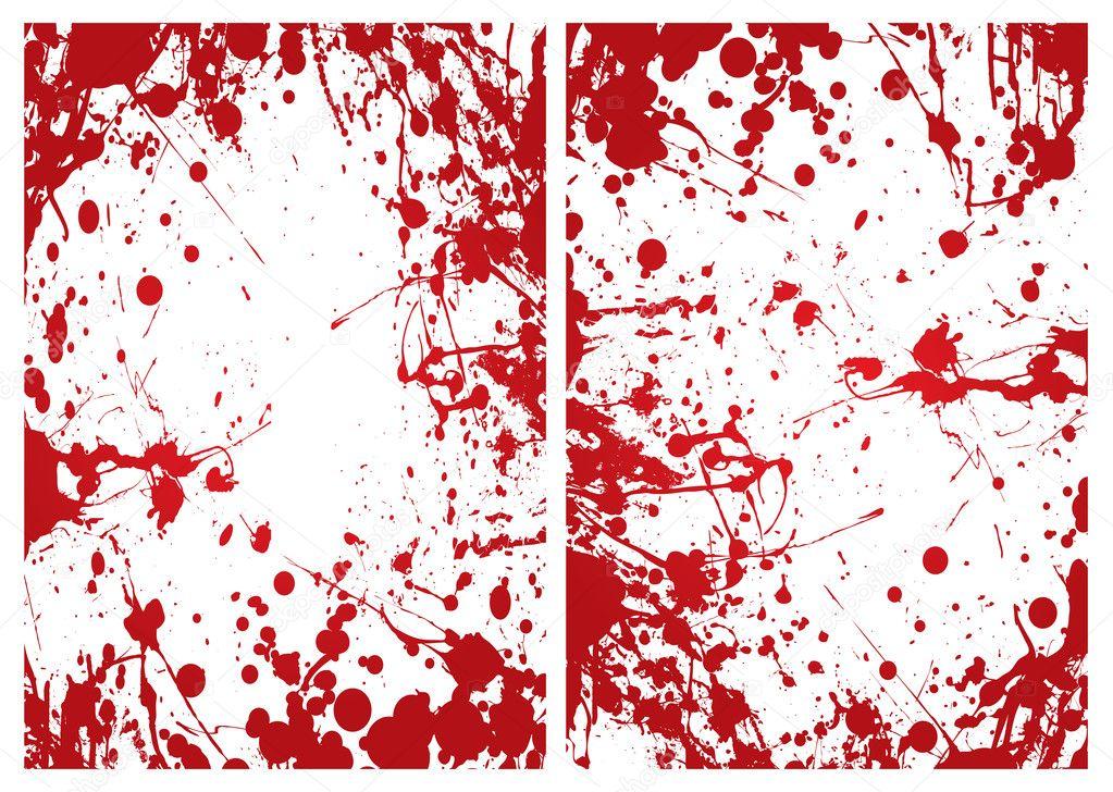 marco de sangre splat — Archivo Imágenes Vectoriales © Nicemonkey ...